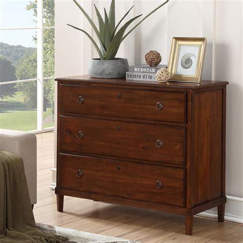3 drawer wood dresser Image