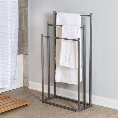 3-Tier Steel Bathroom Free Standing Towel Rack