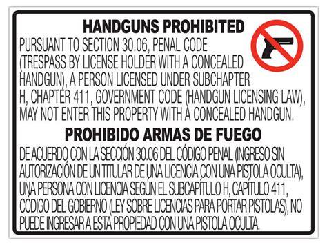 30 06 Handgun Signs