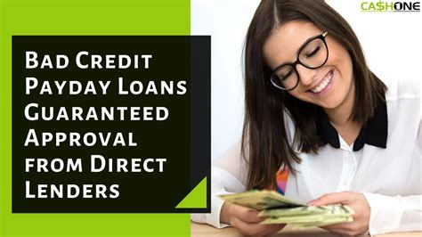 30 Day Payday Loans For Bad Credit