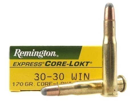 30 Remington Ammo 170 Grain Core-lokt Bullet