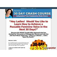 Buying 30 day crash course: transgender voice feminization