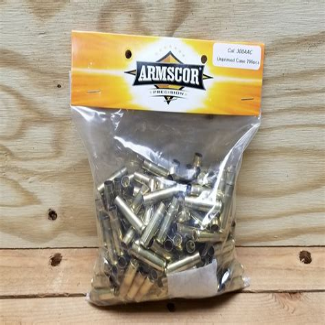300 Aac Unprimed Brass 200 Pieces Ventura Munitions And Hk Ump Ebay
