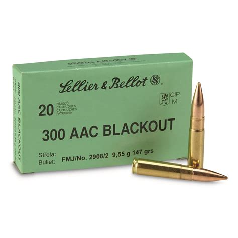 300 Aac Blackout 147 Grain Fmj Sellier Bellot 20