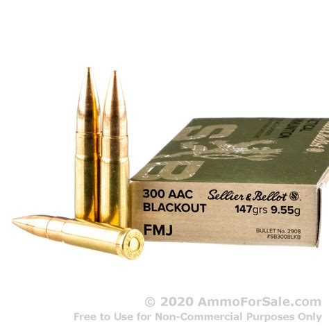 300 Aac Blackout Sellier Bellot 147gr Fmj Ammo Ammunition