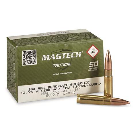 300 Aac Blackout Subsonic 200 Grain Fmj Magtech Ammo