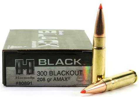 300 Blackout 208 Gr Amax Hornady Black Hornady