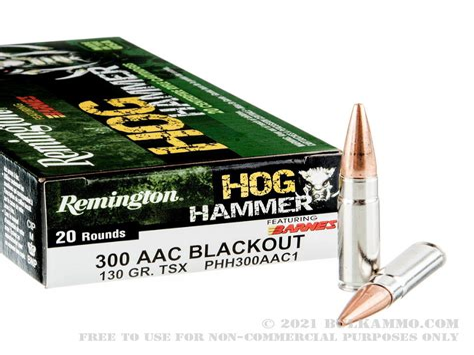 300 Blackout Hog Hunting Ammo