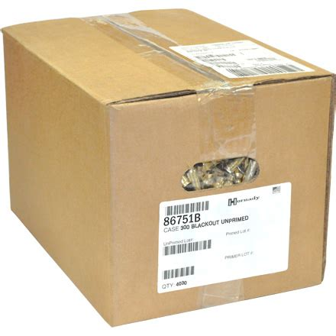 300 Blackout Unprimed Rifle Brass 1200 Count By Hornady