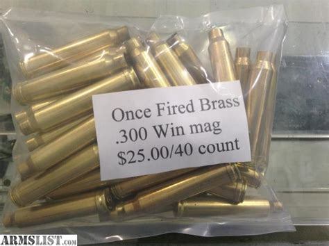 300 Win Mag Brass Once Fired For Sale