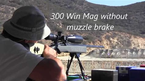 300 Win Mag Recoil With Muzzle Brake