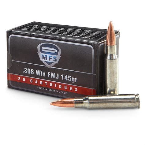 308 Ammo Top View