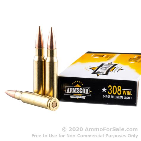308 Winchester USA 147gr FMJ Ammo - Ammo To Go