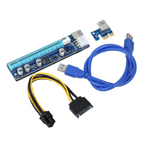 30cm PCI-E USB 3.0 Cable Adapter Express 1X to 16X Extension Cable - Mining