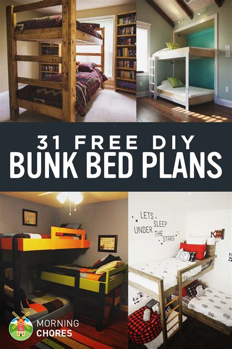 31 Free Diy Bunk Bed Plans