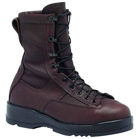 330 ST - Wet Weather Chocolate Brown Safety Toe Flight Boot USN/USMC