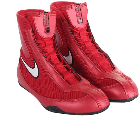 333580-611 MEN MID BOXING SHOE NIKE VARSITY RED WHITE