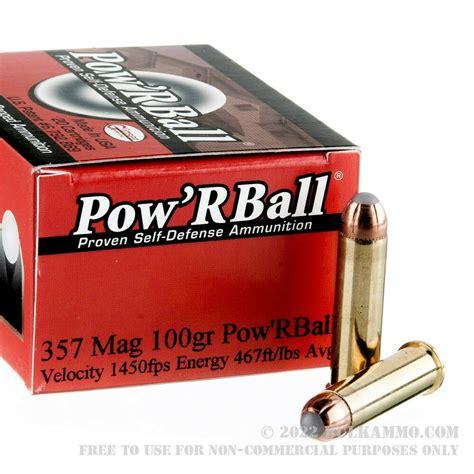 357 Mag 100gr Power Ball Ammo