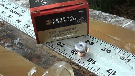 357 Magnum Hydra Shok 158gr Ballistic Gel Test
