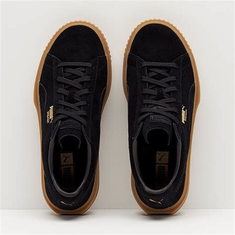366079-01: Breaker Suede Gum Black Sneakers