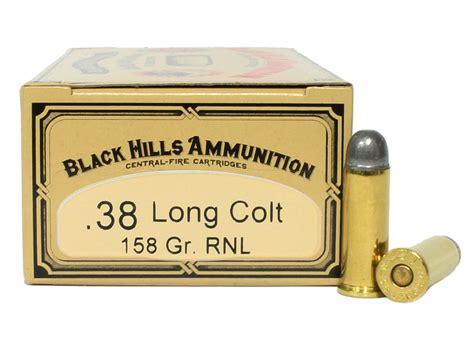 38 Long Colt 158 Grain Round Nose Lead Black Hills Cowboy