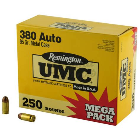 380 Auto 95 Grain Mc Remington Umc 500 Rounds