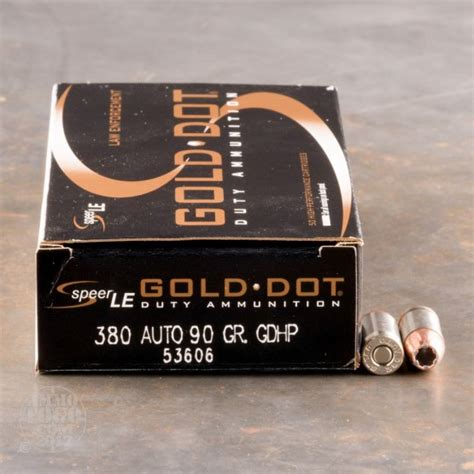 380 Auto Speer LE Gold Dot 90gr HP Ammo - Ammo To Go