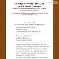 39 ways to torment your cat free trial