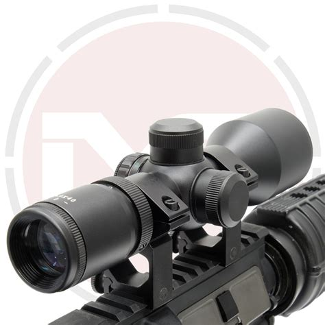 39x40 Compact Rifle Scope And 4x20 Rifle Scope With Attached Mounts