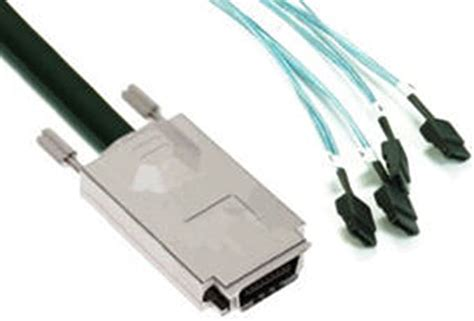 3FT SAS SFF 8470 4x SATA INFINIBAND TO 4SATA 1M Cable