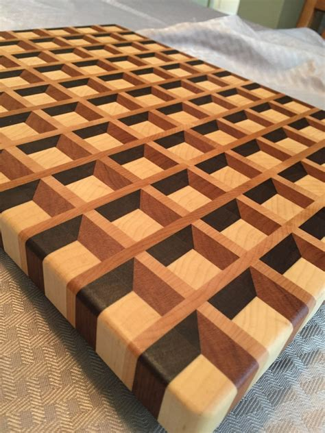 3d End Grain Cutting Board Youtube Movies