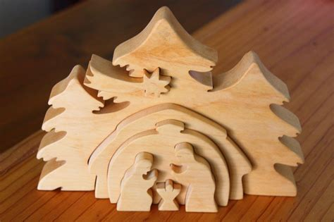 3d Nativity Scene Template Woodworking Projects