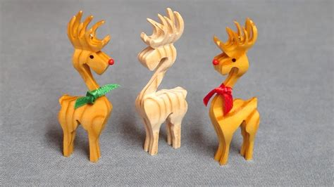 3d Scroll Saw Reindeer