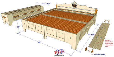 3d Woodworking Plans Bed In A Box 098