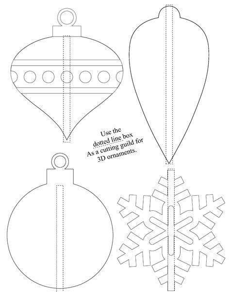 3d christmas ornament templates Image