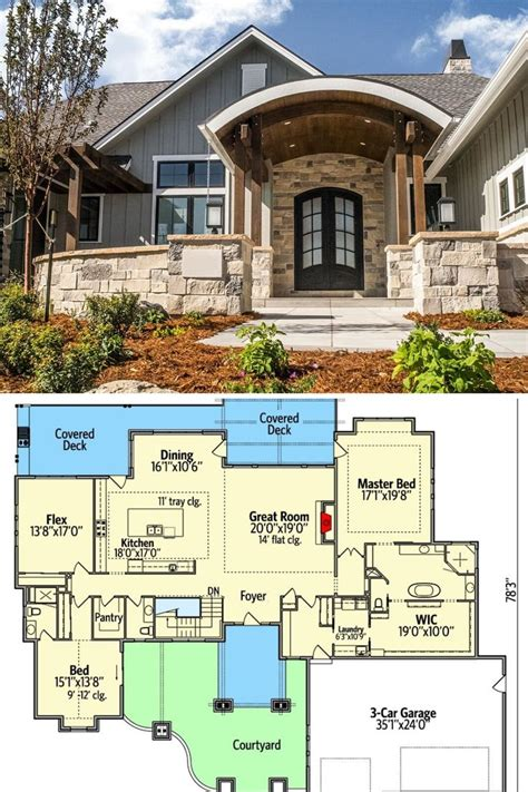 4 Bed 1 Story House Plans