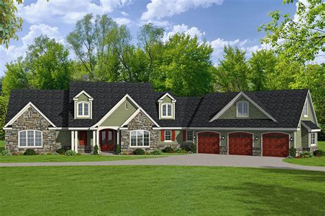 4 Bedroom 3 Car Garage House Plans