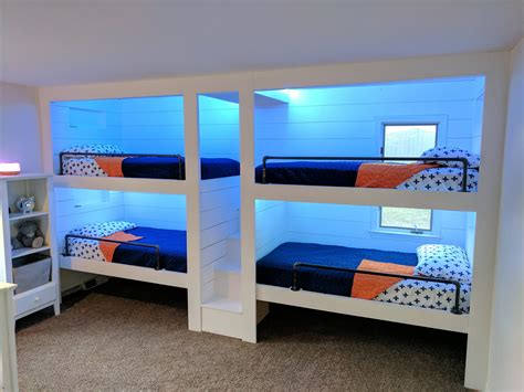 4 Bunk Cubby Beds Built in Plans Free
