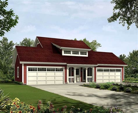 4 Car Garage Apartment House Plans
