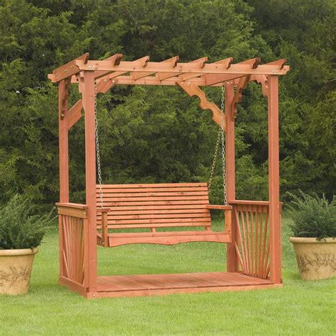 4 Porch Swing Stand Alone Designs