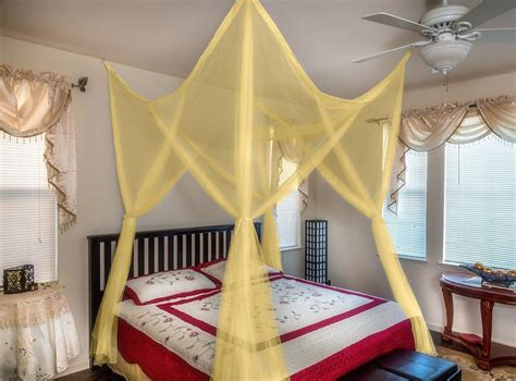 4 Poster Bed Canopy Mosquito Net