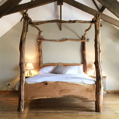 4 Poster Wood Double Beds