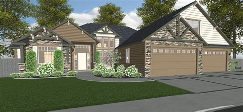 4 Stall Garage Plans With Workshop 1 2 Bath