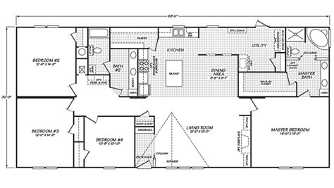 4-Bed-Mobile-Home-Floor-Plan