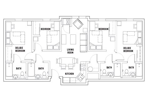4-Bed-Student-Apartment-Floor-Plans