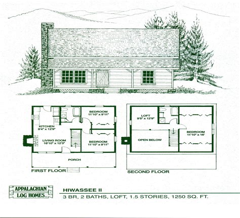 4-Bedroom-Cabin-Plans-With-Loft