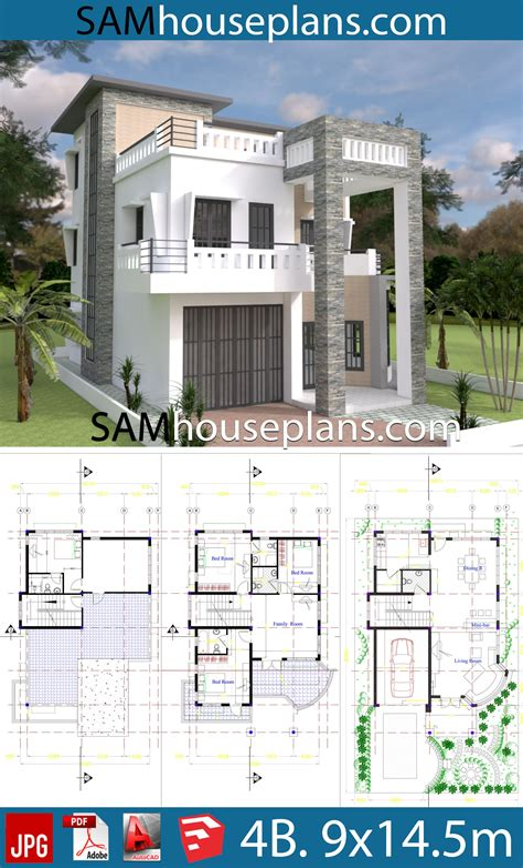 4-Bedroom-Modern-House-Plans-Free