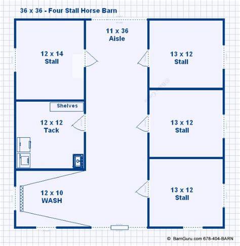 4-Stall-Horse-Barn-Floor-Plans