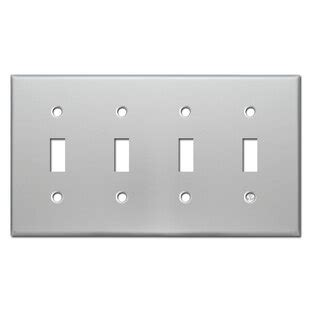 4 toggle switch plate cover Image