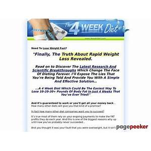 4 week diet 4 week diet lose weight fast and easy weight loss is it real?